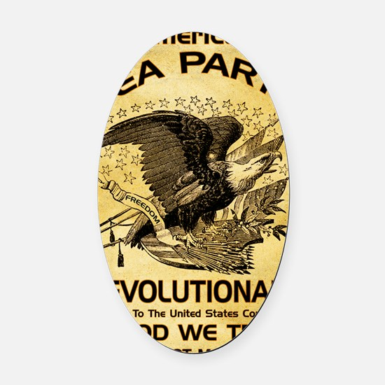 Tea Party Revolutionary Oval Car Magnet