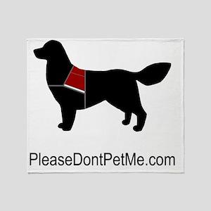 Please Dont Pet Me Dog (Bright Vest) Throw Blanket