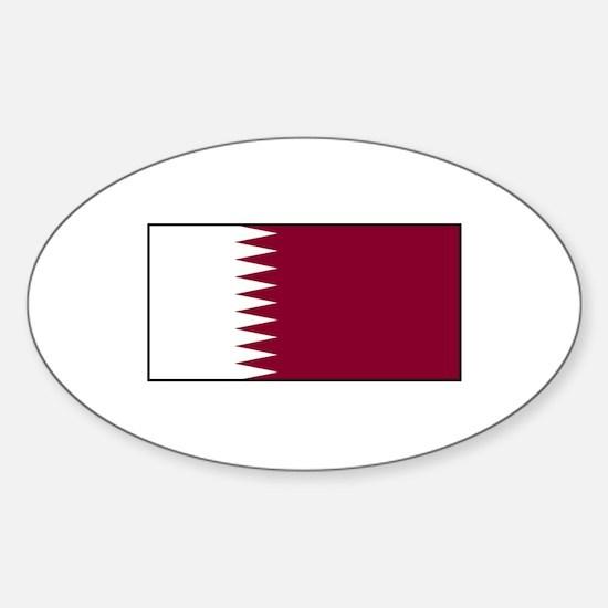 Qatar Flag Oval Decal