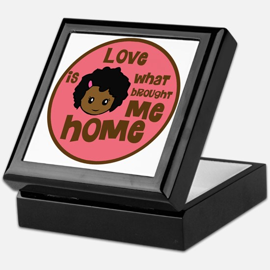 love is what brought me home girl cop Keepsake Box