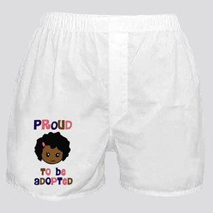 proud to be adopted girl face copy Boxer Shorts
