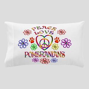 Peace Love Pomeranians Pillow Case
