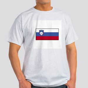 Slovenia Flag Ash Grey T-Shirt