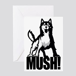 HUSKY MUSH2 Greeting Card