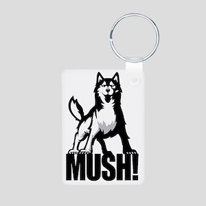 HUSKY MUSH2 Aluminum Photo Keychain