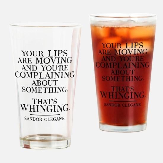 GOT Whinging Drinking Glass
