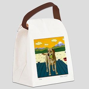 chloe card Canvas Lunch Bag