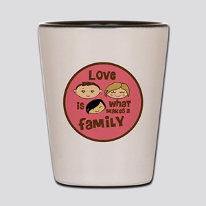 Asian Girl love is what makes a family  Shot Glass