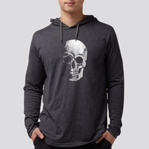 chalk skull sketch Long Sleeve T-Shirt