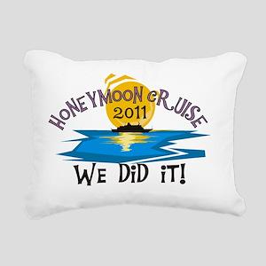 2011HONEYMOONCRUISEWEDID Rectangular Canvas Pillow