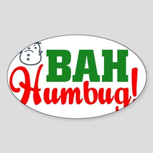 BahHumbugLight Sticker (Oval)