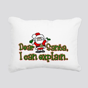 ICanExplainDark Rectangular Canvas Pillow