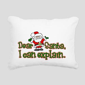 ICanExplainDark Rectangular Canvas Pillow