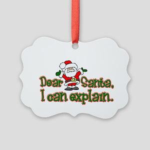 ICanExplainDark Picture Ornament