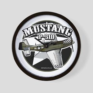P-51D-Mustang Wall Clock