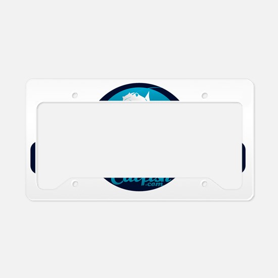 Learn To Catch Catfish Logo License Plate Holder