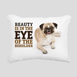 RD Pug Beauty Landscape Rectangular Canvas Pillow