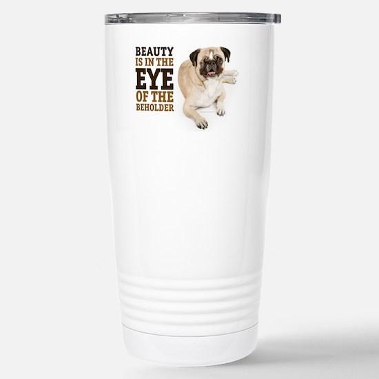 RD Pug Beauty Landscape Stainless Steel Travel Mug