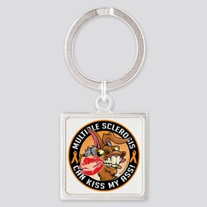 Multiple-Sclerosis-Can-Kiss-My-Don Square Keychain