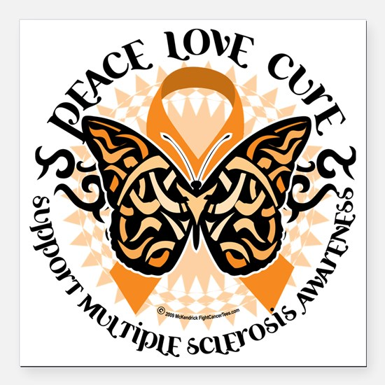 """Multiple-Sclerosis-Butte Square Car Magnet 3"""" x 3"""""""