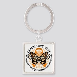 Multiple-Sclerosis-Butterfly-Triba Square Keychain