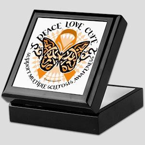 Multiple-Sclerosis-Butterfly-Tribal-2 Keepsake Box