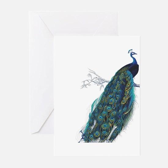 Vintage peacock Greeting Cards