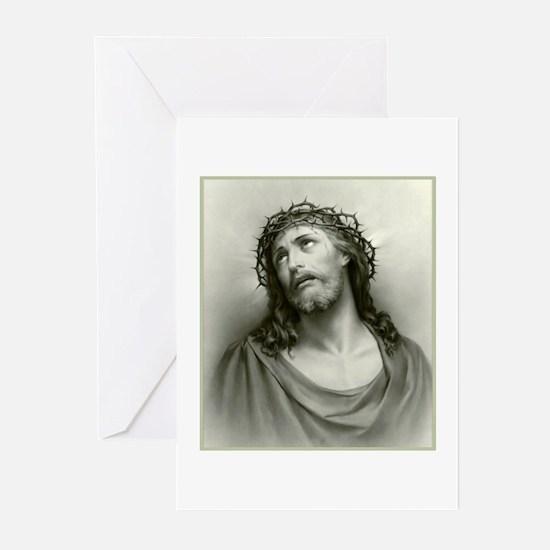 Portrait of Jesus Greeting Cards (Pk of 10)