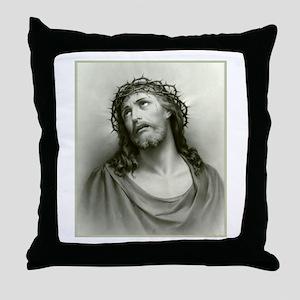 Portrait of Jesus Throw Pillow
