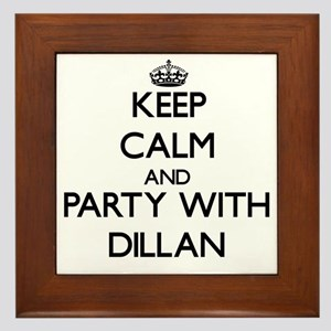 Keep Calm and Party with Dillan Framed Tile