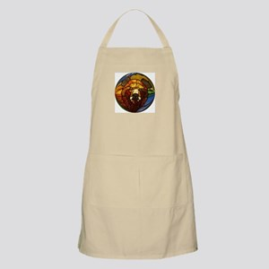 STAINED GLASS BEAR HEAD BBQ Apron