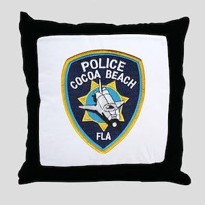Cocoa Beach Police Throw Pillow