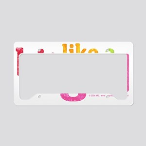 HitLikeAGirl_horizontal License Plate Holder