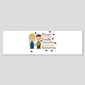Always UNIQUE... Bumper Sticker