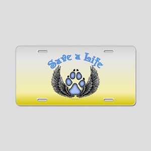 Save a Life2 Aluminum License Plate