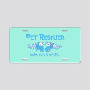 Pet Rescuer Aluminum License Plate