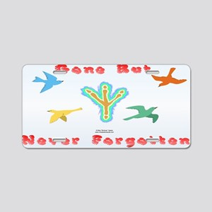 Bird Memorial Aluminum License Plate