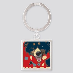 woof Square Keychain