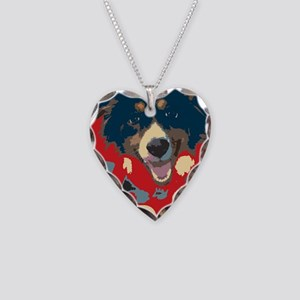 woof Necklace Heart Charm