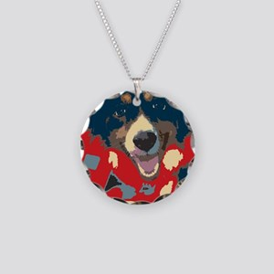 woof Necklace Circle Charm