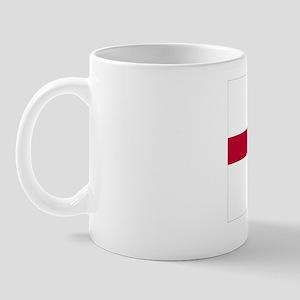 English Flag - England Goudy Med Mug