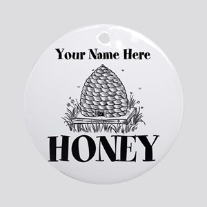 Vintage Honey Round Ornament