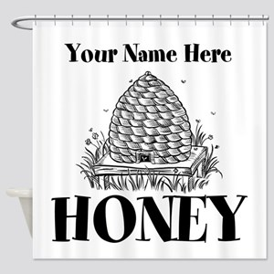 Vintage Honey Shower Curtain
