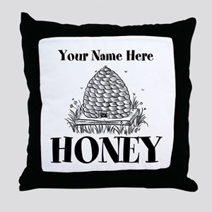 Vintage Honey Throw Pillow