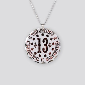 triskaidekaphile-LTT Necklace Circle Charm