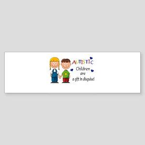 Autistic Children~ A gift in Bumper Sticker