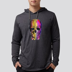 Rainbow Painted Skul Long Sleeve T-Shirt