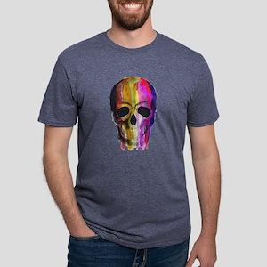 Rainbow Painted Skull T-Shirt