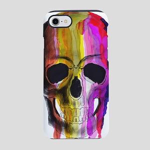 Rainbow Painted Skull iPhone 7 Tough Case