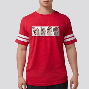 Custom Name in Sign Language Ash Grey T-Shirt